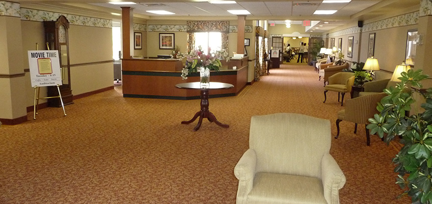 RHF Bishop's Glen lobby with elegant furnishings