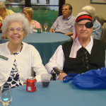 Residents enjoying a festive day at the facility