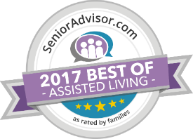 2017 assisted living award logo from Senior Advisor