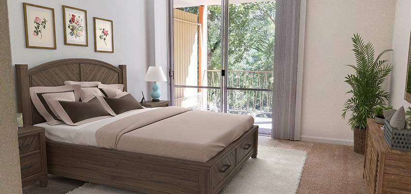 Pioneer House bedroom