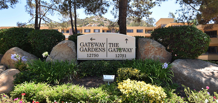 The Gateway Gardens and The Gateway sign