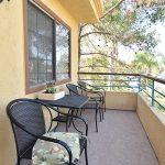 RHF Gateway resident patio with seating area