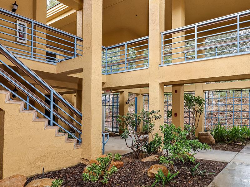 The Gateway and Gateway Gardens exterior stairways and gardens