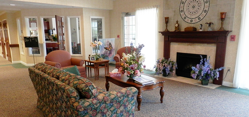 RHF Colonial waiting area with fireplace
