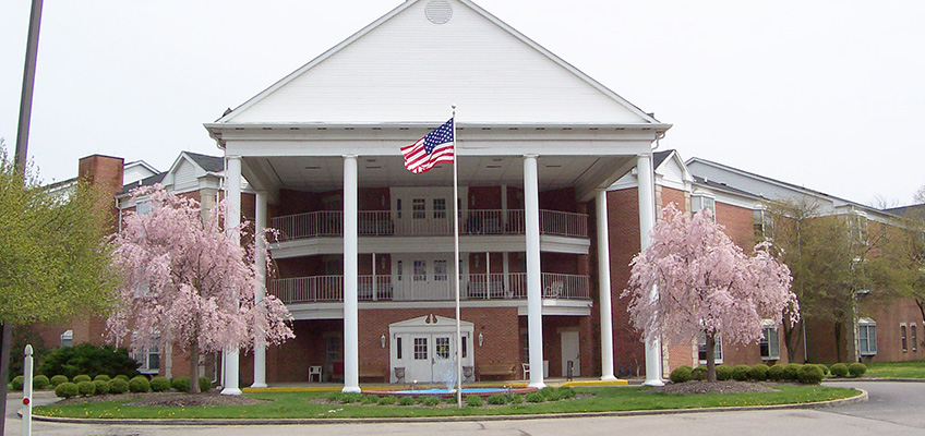 RHF Colonial exterior with US flag