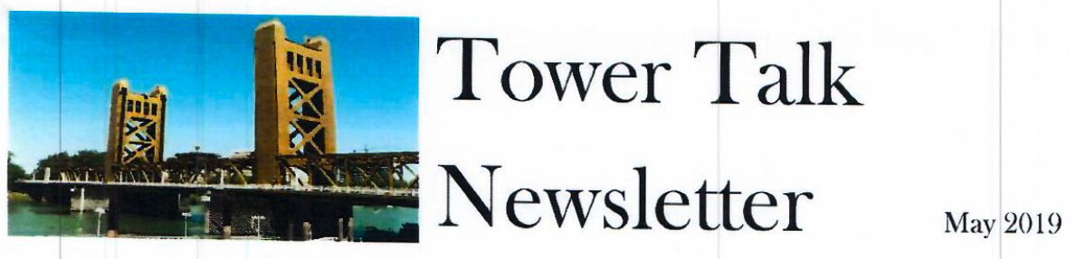 Tower Talk Newsletter for May 2019 banner