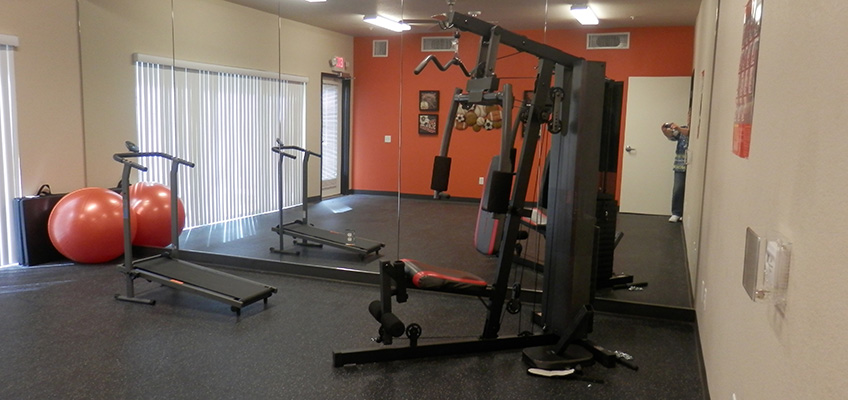 College Villas Gym room