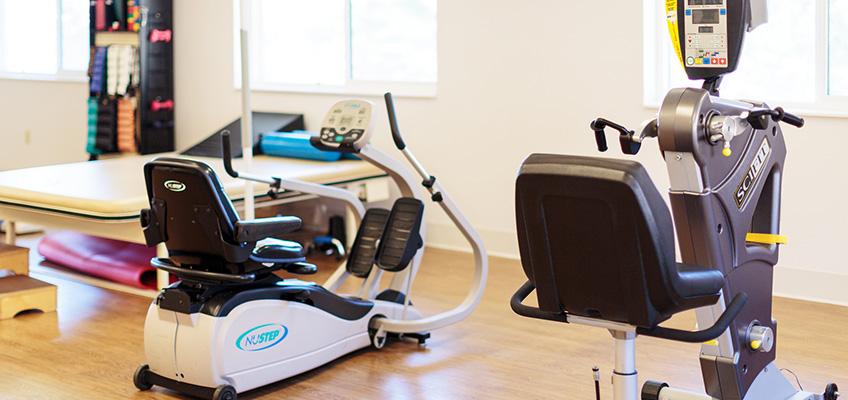 equipment in the rehabilitation room
