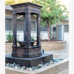 beautiful stone fountain