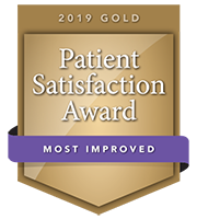 2019 Gold Patient Satisfaction Award for Most Improved