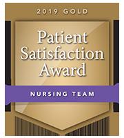 2019 Gold Patient Satisfaction Award for Nursing Team