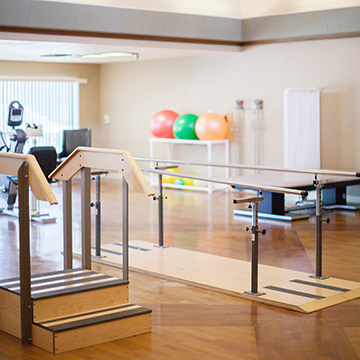 exercise room with rehabilitation equipment