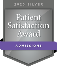 2020 Silver Patient Satisfaction Award for Admissions