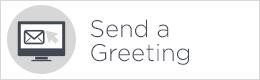send a greeting button white