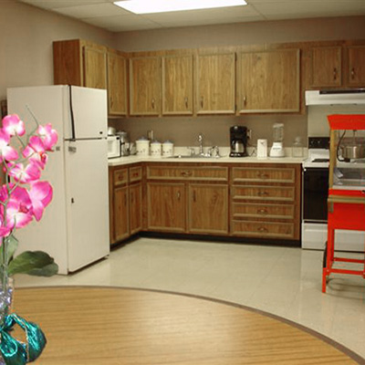 The community kitchen at Long View