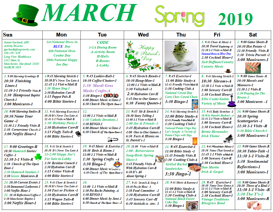 Long View March calendar