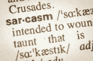 Sarcasm and Watching Our Words