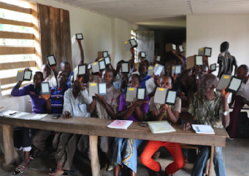 Delivering E-Readers in the Congo