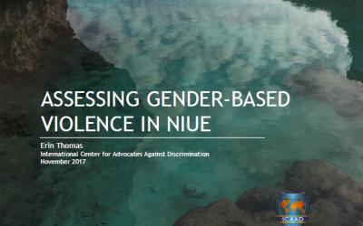 Assessing Gender-based Violence in Niue, 2017