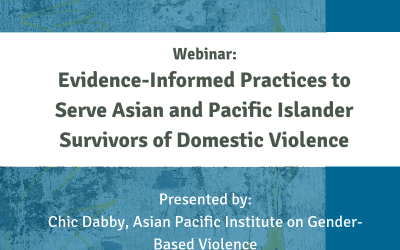 Evidence-Informed Practices to Serve Asian/Pacific Islander Domestic Violence Survivors, 2018