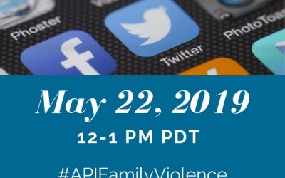 #APIFamilyViolence Twitter & Facebook Chat for APAHM 2019
