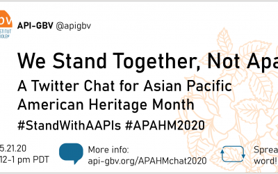We Stand Together, Not Apart! A Twitter Chat for APAHM 2020