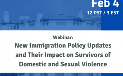 Upcoming webinar: New Immigration Policy Updates and Their Impact on Survivors of Domestic and Sexual Violence