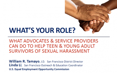 Webinar for Advocates and Adult Allies! Sexual Harassment & AAPI Teens