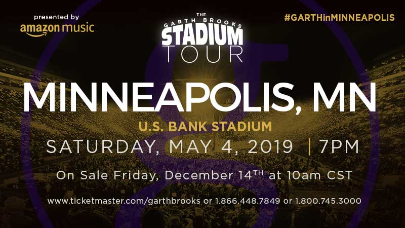 THE GARTH BROOKS STADIUM TOUR RETURNS TO MINNEAPOLIS AFTER FOUR AND A HALF YEARS!
