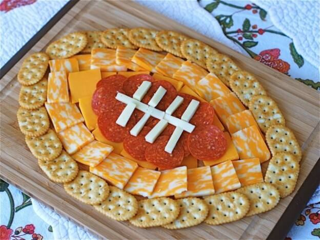football cheese crackers