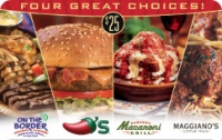 Discounted Chili's, Macaroni Grill, On The Border, Maggiano's Gift Cards