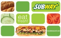 Discounted Subway Gift Cards