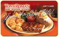 Discounted Tony Romas Gift Cards