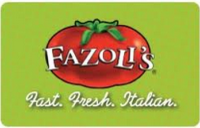Discounted Fazoli's Gift Cards