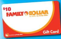 Discounted Family Dollar Gift Cards