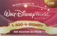 Disney Vacation Gift Cards- (Fun Vacation Network ONLY)