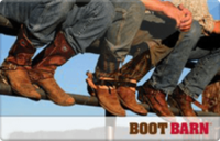 Discounted Boot Barn Gift Cards