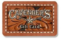 Discounted Cavender's Gift Cards