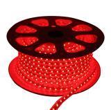 Rollo de manguera LED 110V, plana, ROJO, 60 LED por metro, 50 metros, corte cada 50 cm.