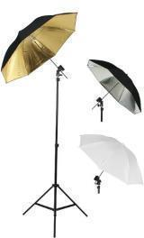 FOTOGRAFÍA PHOTO STUDIO FLASH MOUNT UMBRELLAS. Kit Three Umbrellas Por Fancier Fan UB1