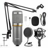 MICRÓFONO DE CONDENSADOR BM-800 - Studio Micrófono de grabación con soporte Shock Mount NUEVO