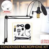 BM-800 MICRÓFONO DE CONDENSADOR -  Micrófono de grabación de estudio con soporte de montaje en EE.UU.