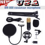 KIT DE MICRÓFONO DE CONDENSADOR BM800 - Studio Pop Boom de filtro Tijera Soporte de montaje EE.UU.