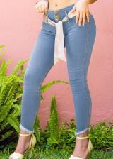 JEANS GLAM PARA MUJER SKINNY (PUSH UP CUT) (Color BLUEBELL, Talla 6)