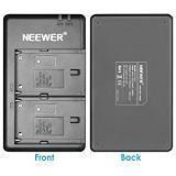 Neewer NP-F550 Battery Charger Set for Sony NP F970,F750,F770,F960,F550,F530,F330,F570,CCD-SC55,TR516,TR716,TR818,TR910,TR917 and more (2-Pack Replacement Battery Kit,Dual Slot Charger)Red (Color: Black+Red)