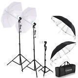 PHOTOGRAPHY STUDIO LIGHTING KIT 4PCS 33 UMBRELLA SOCKET LAMPS LIGHT STAND SET
