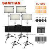4-PACK 160LED VIDEO LIGHTS CÁMARA DE FOTOGRAFÍA KITS DE ILUMINACIÓN DE ESTUDIO 4 * BATERÍA