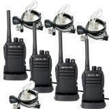 RETEVIS RT21 WALKIE TALKIES PARA ADULTOS RADIO DE LARGO ALCANCE DE 2 VÍAS RADIO FRS Radio de dos vías VOX con auricular acústico oculto de 2 pines (paquete de 4)