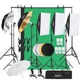 30pcs Photo Studio Photography Lighting Kit Umbrella Softbox Backdrop Stand Set