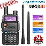 BAOFENG UV-5R III Tri-Band Walkie Talkie Long Range Two Way Ham Radio  Earpiece